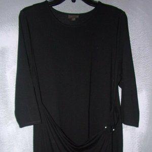 J.JILL WEAREVER SZ.LP,BLACK RAYON STRETCH DRESS